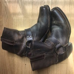 Frye Engineer Leather Harness Boots, 7.5 GUC